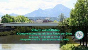 Villach erGRÜNden - MIt dem Fluss der Drau @ Der Drau entlang Richtung Wasenboden