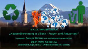 Hausmülltrennung in Villach – Fragen und Antworten! @ E.R.D.E.*